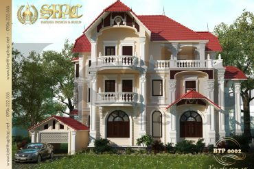 Thiết kế kiến trúc biệt thự pháp tại quảng ninh sh btp 0002