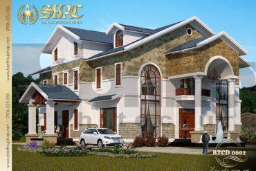 Thiết kế kiến trúc biệt thự tân cổ điển tại phú quốc sh btcd 0002