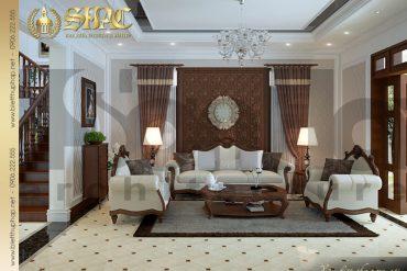 2.Mẫu nội thất phòng khách biệt thự pháp tại quảng ninh SH BTP 0006