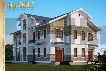 Thiết kế kiến trúc biệt thự tân cổ điển tại phú quốc sh btld 0002