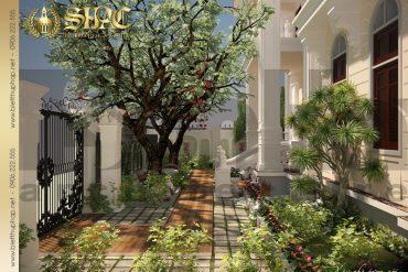 Mẫu thiết kế sân vườn biệt thự pháp tại quảng ninh sh btp 0002