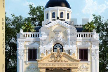 1 Thiết kế kiến trúc biệt thự lâu đài tại bắc ninh sh btld 0012