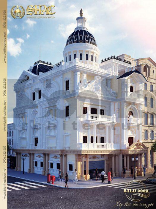 1 Thiết kế kiến trúc biệt thự lâu đài tại hà nam sh btld 0009