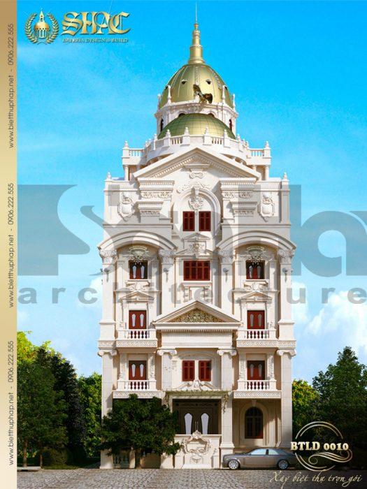 1 Thiết kế kiến trúc biệt thự lâu đài tại hà nội sh btld 0010