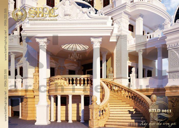 1 Thiết kế kiến trúc biệt thự lâu đài tại hải dương sh btld 0011