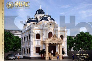 1 Thiết kế kiến trúc biệt thự lâu đài tại hải phòng sh btld 0014