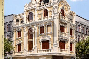 1.Thiết kế kiến trúc biệt thự pháp cổ điển tại quảng ninh SH BTP 0020