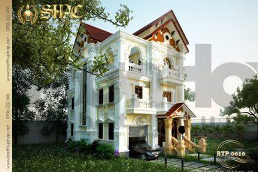 1 Thiết kế kiến trúc biệt thự pháp tại hải dương sh btp 0010