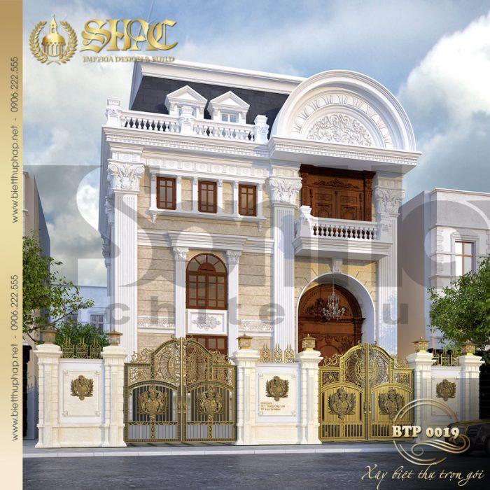 Thiết kế biệt thự 2 tầng kiểu pháp diện tích 200m2 tại thành phố Hồ Chí Minh