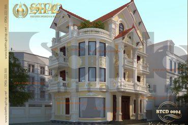 1 Thiết kế kiến trúc biệt thự tân cổ điển tại hà nội sh btcd 0004