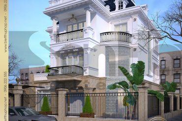 1 Thiết kế kiến trùc biệt thự tân cổ điển tại hà nội sh btcd 0012