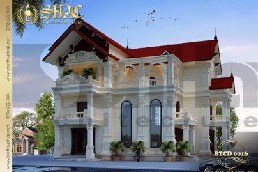 1 Thiết kế kiến trúc biệt thự tân cổ điển tại hải phòng sh btcd 0016