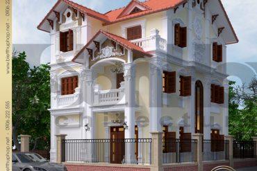 1 Thiết kế kiến trúc biệt thự tân cổ điển tại quảng ninh sh btcd 0006