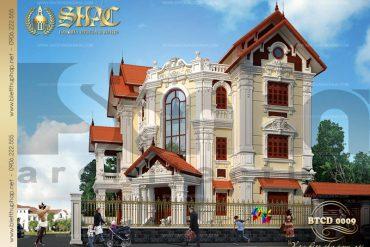 1 Thiết kế kiến trúc biệt thự tân cổ điển tại quảng ninh sh btcd 0009