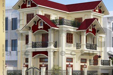 1.Thiết kế kiến trúc biệt thự tân cổ điển tại quảng ninh SH BTCD 0017