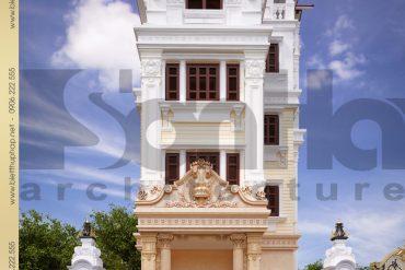 1 Thiết kế kiến trúc mặt tiền biệt thự tân cổ điển tại hà nội sh btcd 0003