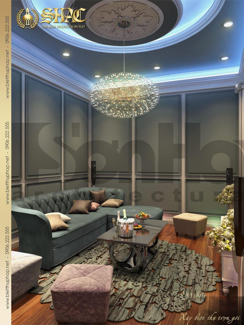 Ấn tượng với mẫu nội thất phòng hát biệt thự lâu đài 2 tầng 1 tum tại Hải Phòng