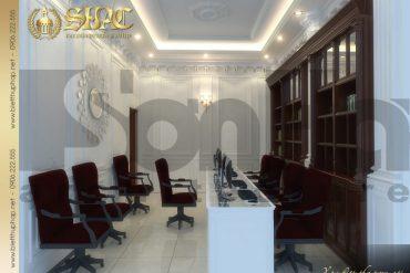 10 Mẫu nội thất phòng làm việc biệt thự lâu đài tại hà nam sh btld 0009