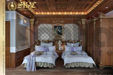10 Mẫu nội thất phòng ngủ ông bà biệt thự lâu đài tại thái bình sh btld 0015