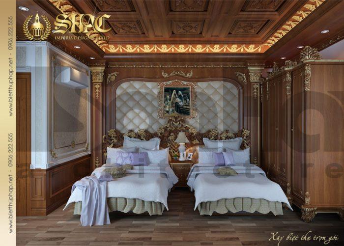 Mẫu thiết kế nội thất phòng ngủ ông bà đẹp và sang với chất liệu gỗ cao cấp