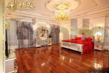 10 Thiết kế nội thất phòng ngủ 1 biệt thự lâu đài tại hà nội sh btld 0010