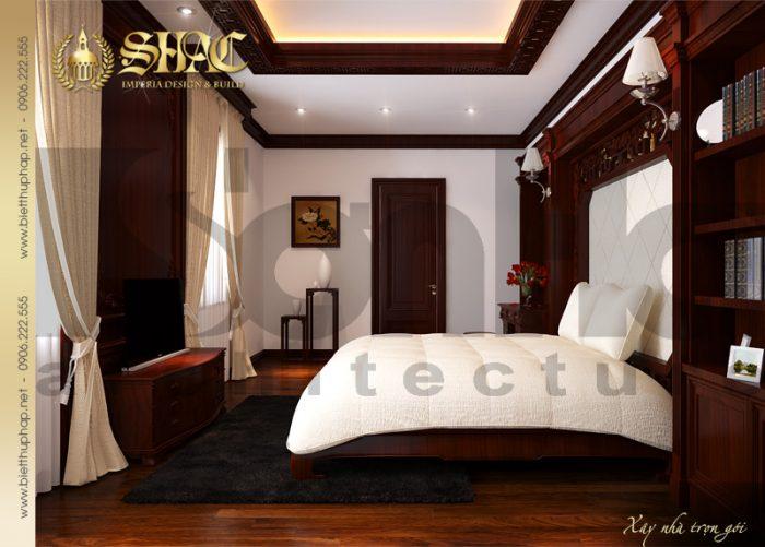 10 Thiết kế nội thất phòng ngủ 1 biệt thự lâu đài tại hải phòng sh btld 0005