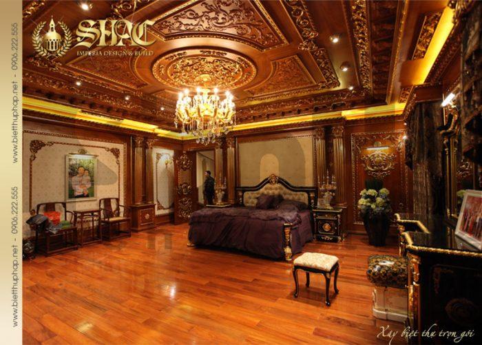 11 Mẫu thiết kế nội thất phòng ngủ 2 biệt thự lâu đài tại hà nội sh btld 0010