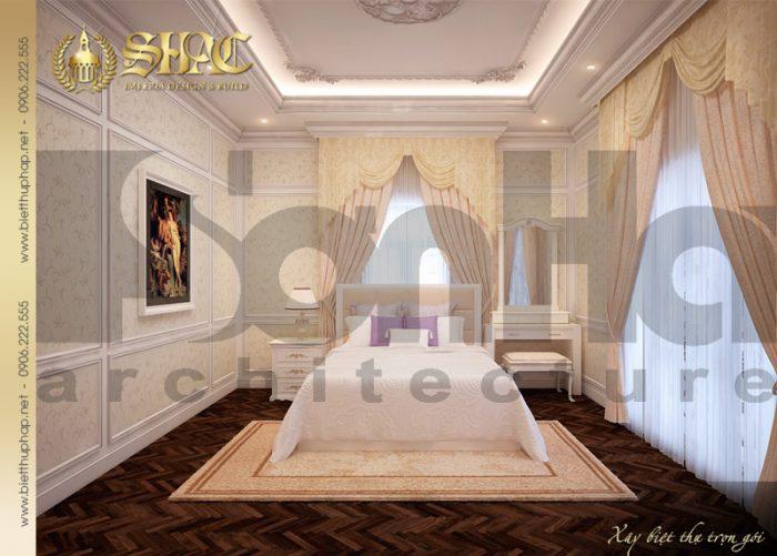11 Thiết kế nội thất phòng ngủ 3 biệt thự lâu đài tại nha trang sh btld 0013