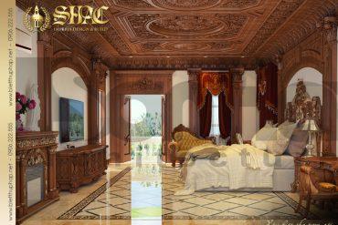 11 Thiết kế nội thất phòng ngủ anh chị biệt thự lâu đài tại thái bình sh btld 0015
