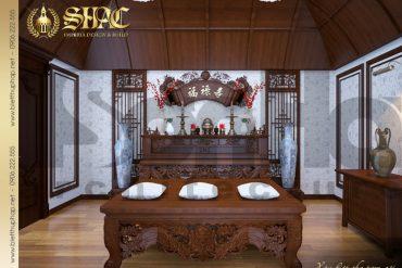 11 Thiết kế nội thât phòng thờ biệt thự lâu đài tại hải phòng sh btld 0014