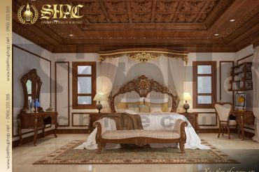 12 Mẫu nội thất phòng ngủ con gái biệt thự lâu đài tại thái bình sh btld 0015