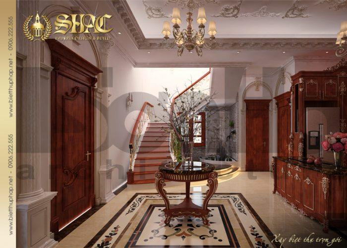 Thiết kế sảnh thang biệt thự phong cách cổ điển được đánh giá cao của SHAC