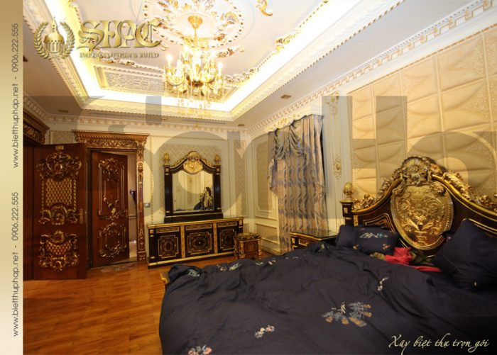 12 Thiết kế nội thất phòng ngủ 3 biệt thự lâu đài tại hà nội sh btld 0010