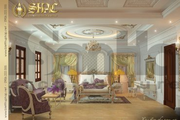 13 Thiết kế nội thất phòng ngủ 1 biệt thự lâu đài tại hà nam sh btld 0009