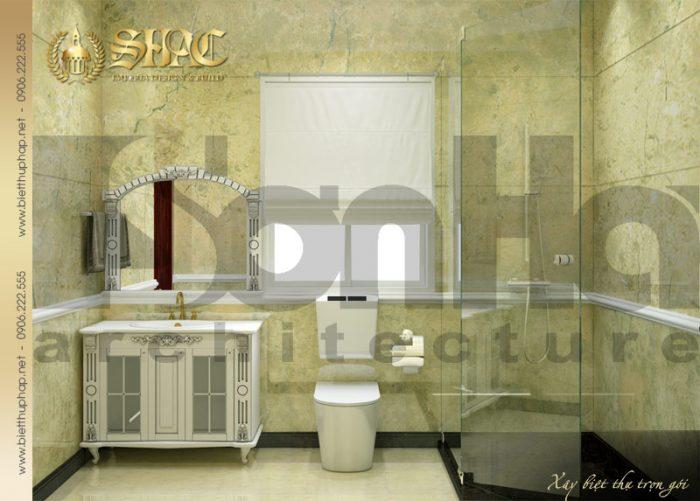 Thiết kế nội thất phòng tắm và vệ sinh biệt thự lâu đài cổ điển tại Hải Phòng của SHAC