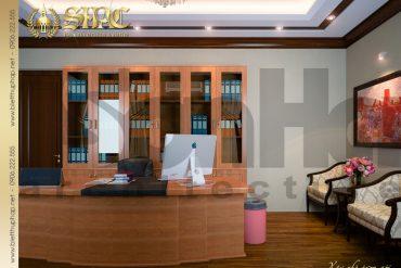 14 Thiết kế nội thất phòng giám đốc biệt thự lâu đài tại hải phòng sh btld 0005