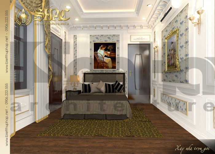 14 Thiết kế nội thất phòng ngủ 5 biệt thự lâu đài tại vĩnh phúc sh btld 0008