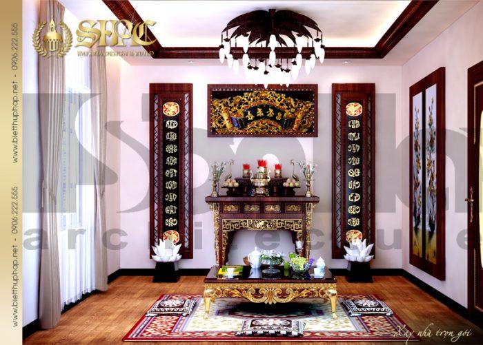 15 Mẫu thiết kế nội thất phòng thờ biệt thự lâu đài tại vĩnh phúc sh btld 0008