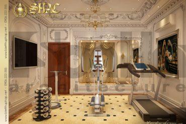 16 Mẫu nội thất phòng tập biệt thự lâu đài tại thái bình sh btld 0015