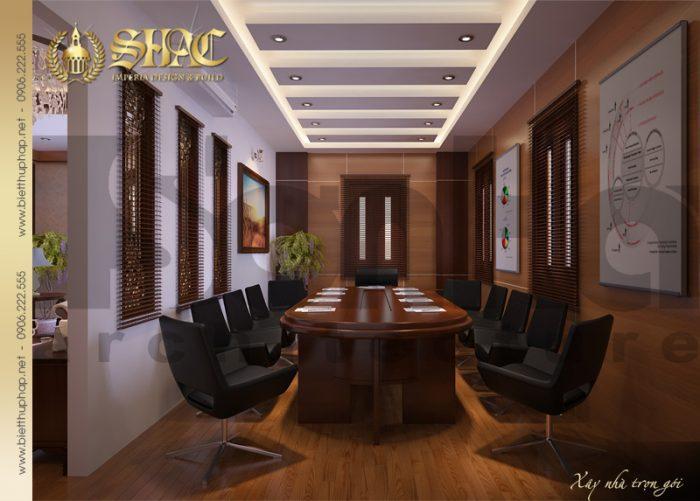 16 Thiết kế nội thất phòng họp biệt thự lâu đài tại hải phòng sh btld 0005