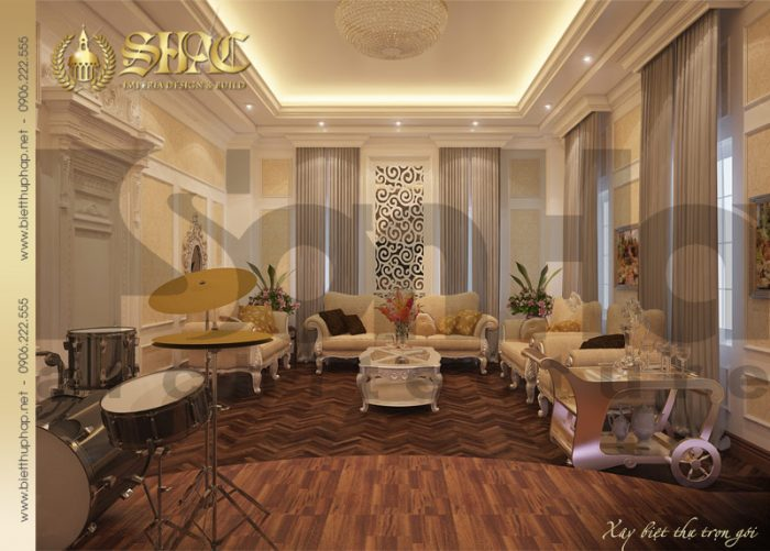 17 Thiết kế nội thất phòng hát biệt thự lâu đài tại nha trang sh btld 0013