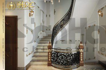 17 Thiết kế nội thất sảnh thang cổ điển biệt thự lâu đài tại thái bình sh btld 0015