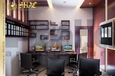 18 Thiết kế nội thất phòng làm việc biệt thự lâu đài tại hải phòng sh btld 0005