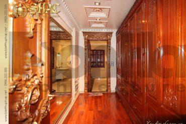 18 Thiết kế nội thất phòng thay đồ biệt thự lâu đài tại hà nội sh btld 0010