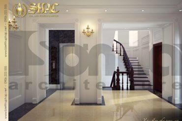 19 Thiết kế nội thất sảnh thang biệt thự lâu đài tại hà nam sh btld 0009