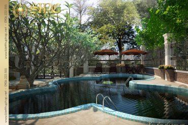 19 Thiết kế sân vườn biệt thự lâu đài tại nha trang sh btld 0013