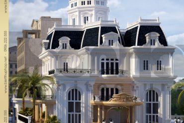 2 Mẫu kiến trúc biệt thự lâu đài tại nha trang sh btld 0013