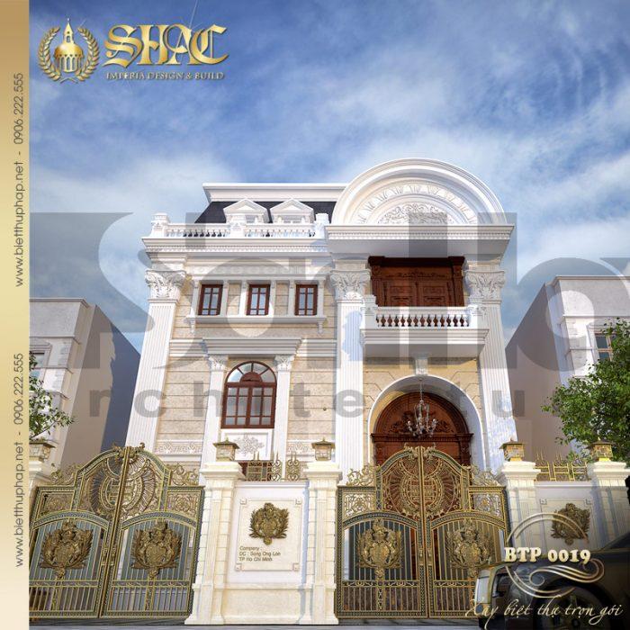 Kiến trúc mặt tiền được tạo thành từ các đường nét có duyên và vô cùng tinh tế