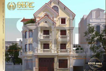 2 Mẫu kiến trúc biệt thự tân cổ điển tại hà nội sh btcd 0004