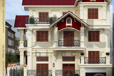 2.Mẫu kiến trúc biệt thự tân cổ điển tại quảng ninh SH BTCD 0017